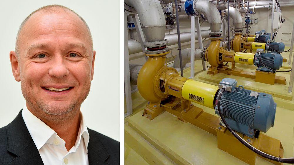 Lars-Fredrik Mathiesen i ABB mener vi bør se mer på energigevinster i eksisterende infrastruktur. Bare drift av pumper opptar i dag en tidel av verdens totale energiforbruk.