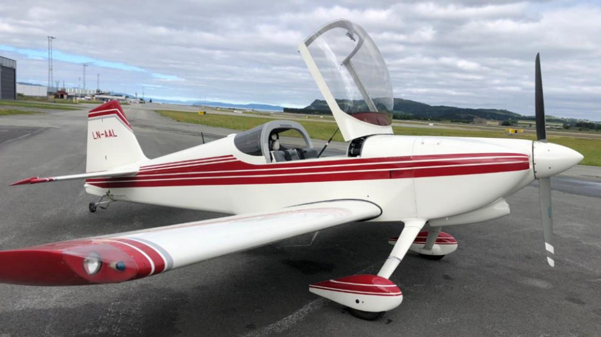 Det var dette småflyet av typen Van's RV-6 som havarerte i Meråker 7. november 2018.
