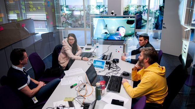 Skatteetatens kjerneteam i Grimstad, som jobber med design og utvikling av løsningen.