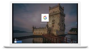 Innlogging på en Windows 10-maskin med en Google-konto.