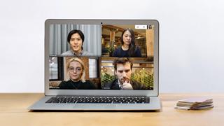 Google Meet-basert videomøte på en PC.