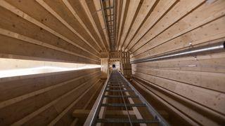 Moelven har bygget vindmølle i limtre: Kan bli 150 meter høye