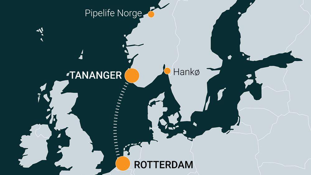 Et skip med plastpellets skulle gå fra Nederland til Tananger utenfor Stavanger. På veien kom skipet ut for uvær, en kontainer ble ødelagt, og store mengder pellets lakk ut i havet - og ble ført med havstrømmene inn i Oslofjorden. Illustrasjon: Kjersti Magnussen, TU Media
