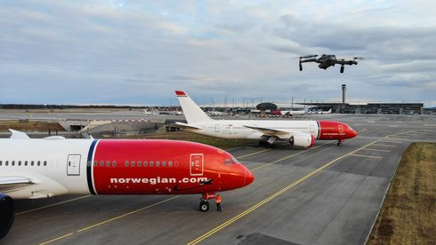 Unike dronebilder fra Oslo Lufthavn