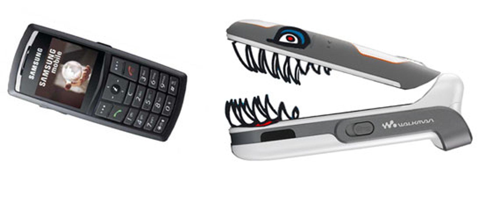 Sony Ericsson spiser av markedsandelene til Samsung og LG.