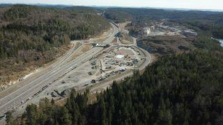 Åpner før sommeren: 36 mål stort veiserviceanlegg langs E18