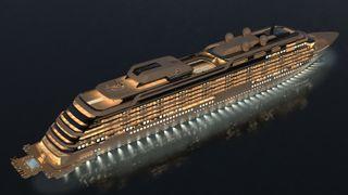Endelig et lyspunkt for maritim næring: Kleven skal bygge 290 meter lang yacht