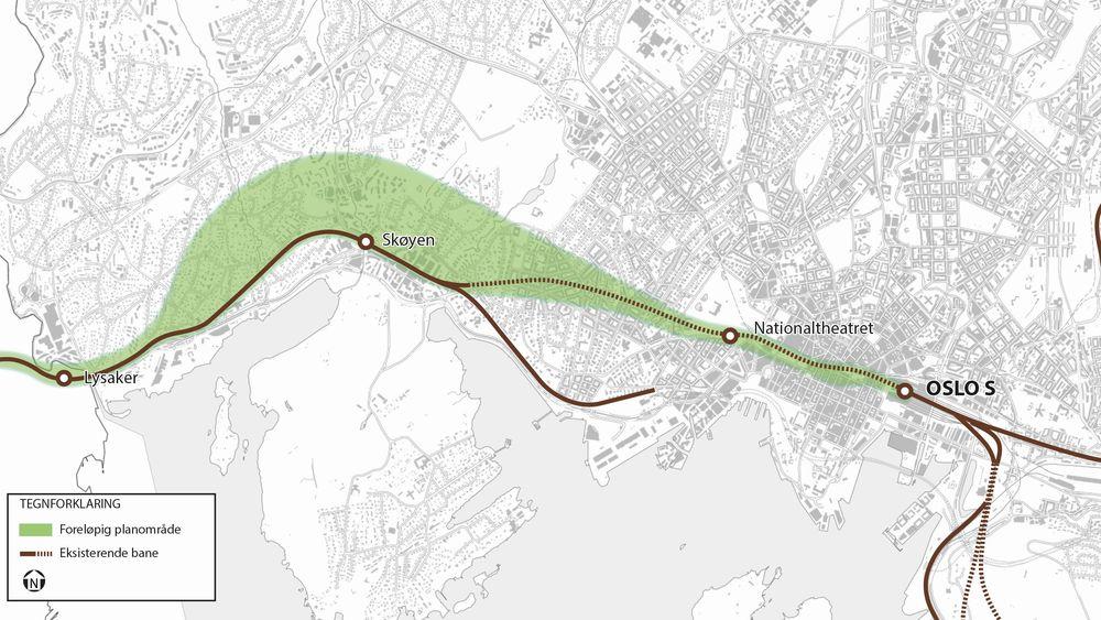 På grunn av de faste stasjonene og all eksisterende infrastruktur er det begrenset med muligheter for hvor den nye togtunnelen kan gå.