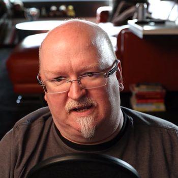 Kevin Scott, CTO i Microsoft, fra hjemmekontoret.