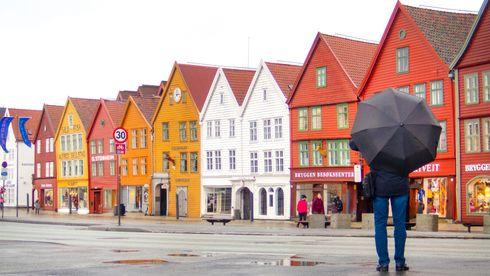 Illustrasjonsfoto av Bryggen i Bergen sentrum.