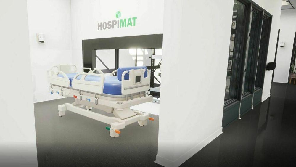 Sykehusheisene forenkler logistikken og sparer personell for kilometervis med sengetransport.