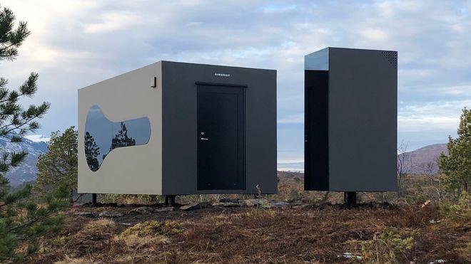 Den norske glassfiberhytta er laget på skipsverft og vekker internasjonal oppsikt