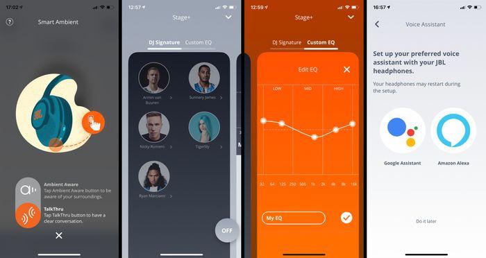 Via appen kan du endre innstillinger for hodetelefonene, oppdatere programvaren, samt justere equalizer-innstillingene.