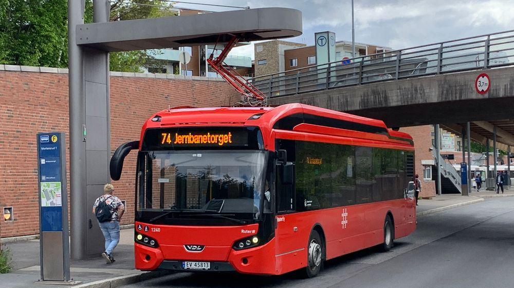 På Mortensrud i Oslo er det allerede etablert ladeløsning for buss