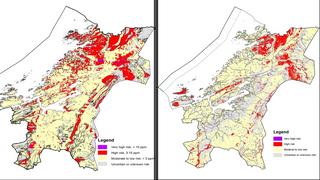 Samlet inn detaljerte data med fly og helikopter: Nå blir radonkartene bedre