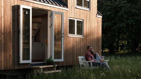 Norske mikrohus, hus på hjul, bokonsept, compact living, trehus