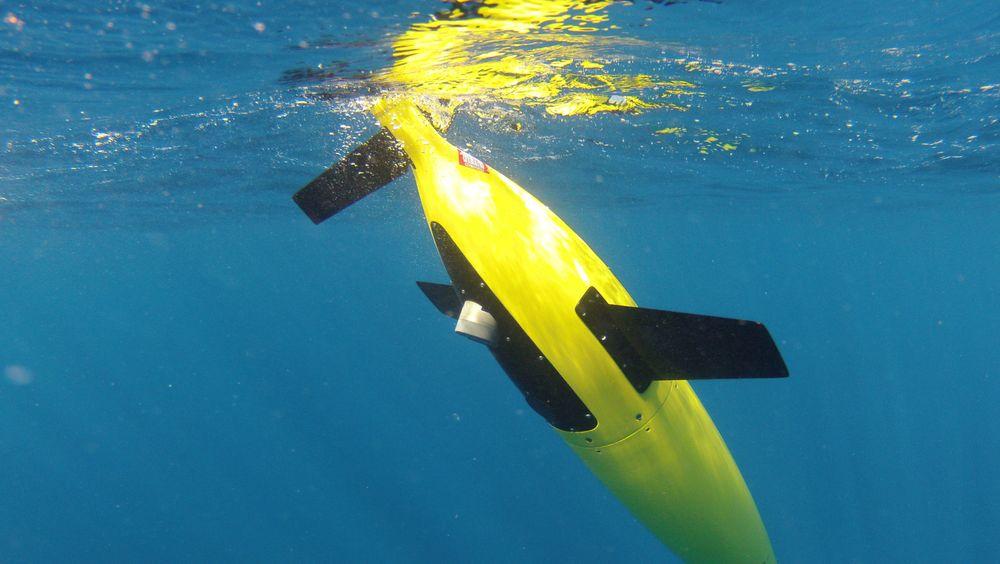 Flere selskaper produserer glidere som beveger seg opp og ned i sjøen. Her illustrert med Kongsbergs Seaglider.