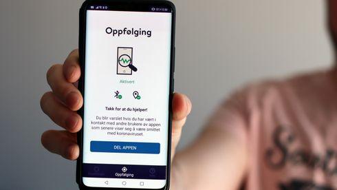 Smittestopp-appen på en Android-mobil.