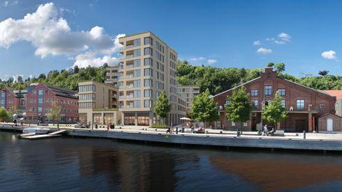 Konkurser mai 2020 byggebransjen Bermingrud var totalentreprenør for blant annet Holmestrand Brygge, der 59 av 76 leiligheter er solgt.