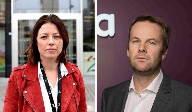 Det er fortsatt ingen enighet mellom Sarah Willand (til venstre) og TV 2 og Henning Lunde og Telia.