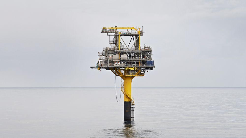 Hvis det danske Klimarådet får det som det vil, blir det slutt på utvinning av olje og gass i Nordsjøen på dansk side. Bildet viser en ubemannet brønnhodeplattform på Tyra Sydøst-feltet, som er knyttet til Tyra-feltet i Danmark.