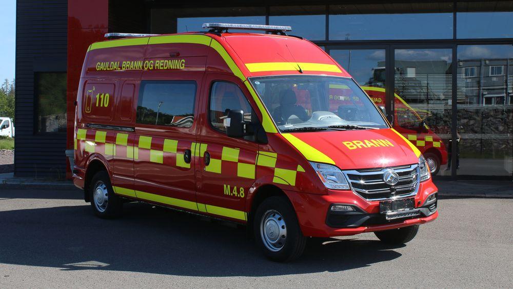 Den ombygde varebilen er landets første elektriske evakueringsbil.