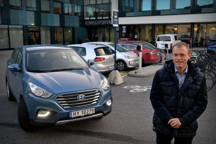Jan Erik Torp, leder i Norsk hydrogenbilforening.