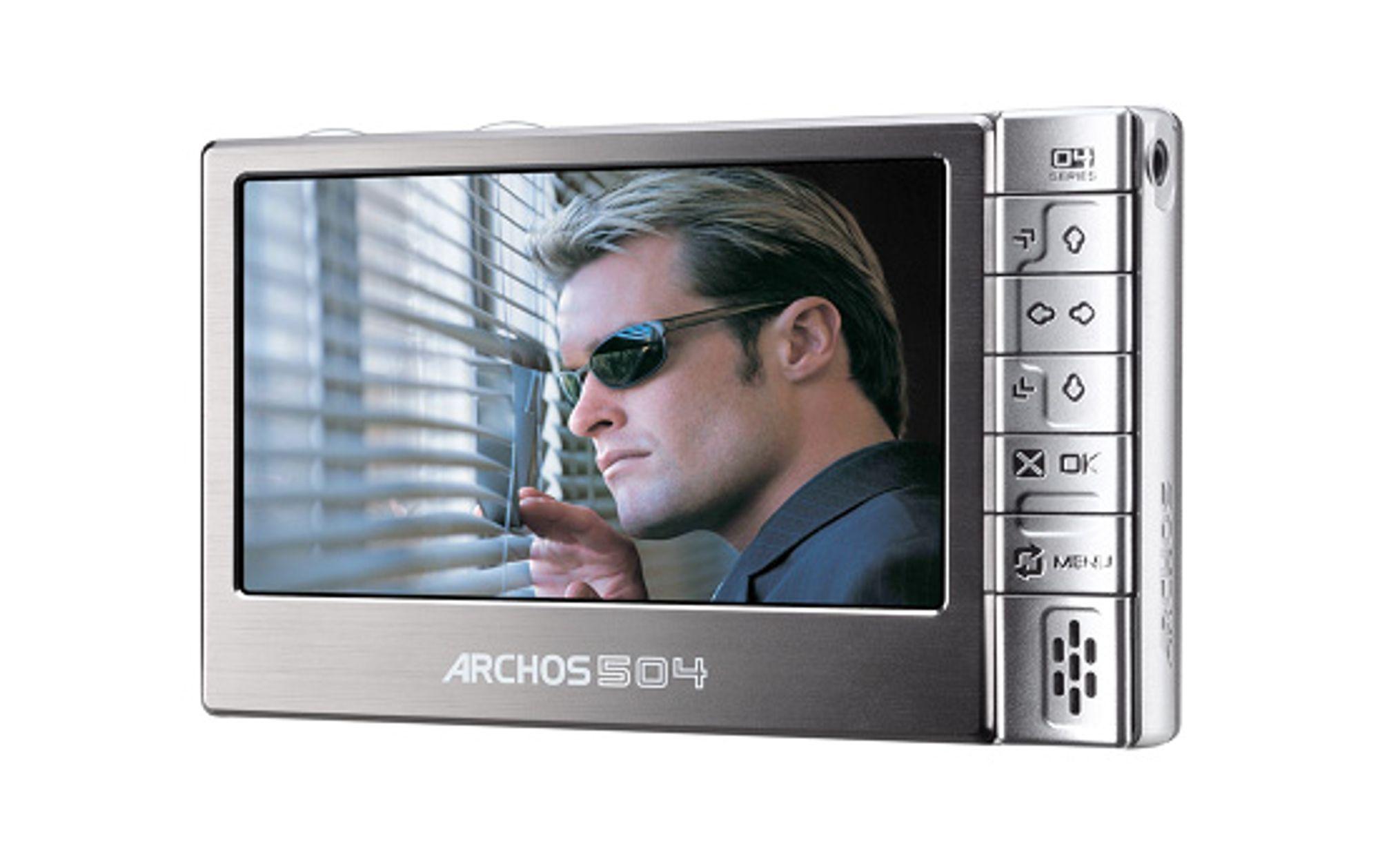 Archos 504 har en sylskarp skjerm