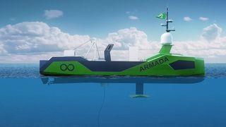 Her er systemet som skal plukke opp fjernstyrte undervannsfartøy