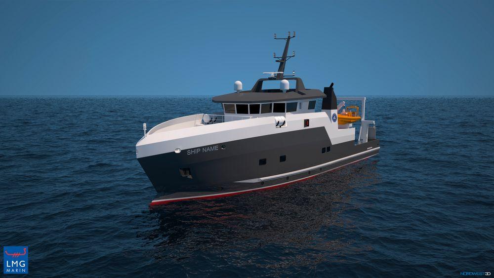 LMG Marin i Bergen har designet et mindre forskningsfartøy til Havforskningsinstituttet.