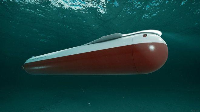 Verdens første: Ubåtdronen driftes på batterier. Oppgaven er å frakte CO2