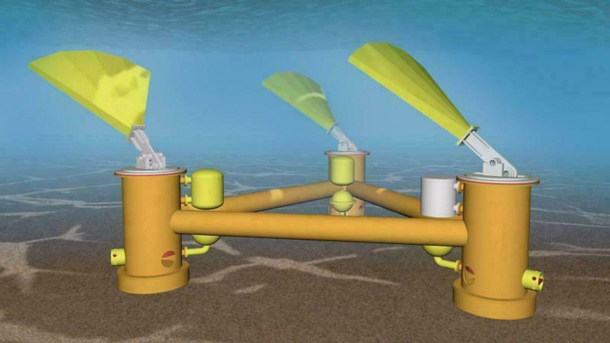Beskyttet mot storm, drevet av bølger