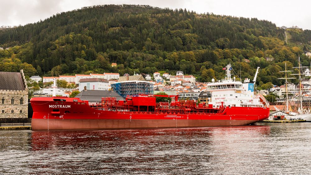 Mostraum til kai i Bergen.