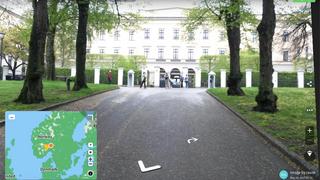 Mapillary er en karttjeneste som kan minne om Google Street View, men basert på brukergenerert innhold. Her har vi zoomet oss inn på det norske Slottet.
