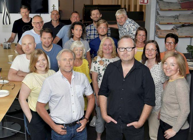 Hamar Arbeiderblads redaksjon, juni 2020.