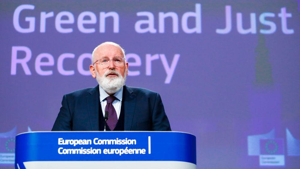 EU-kommisjonens administrerende visepresident Frans Timmermans vil gi hydrogen en nøkkelrolle i innsatsen for å nå klimanøytralitet.