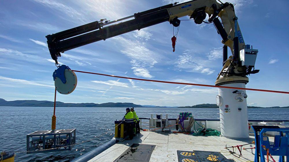 Testes: Her skal det gjøre en såkalt «wet commissioning» av Waterise sin testenhet på Vestlandet.