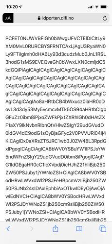 ID-porten gir oss følgende feilmelding, en lang tekststreng og ingen forståelig ventetidsplakat, klokken 10.20 mandag formiddag.