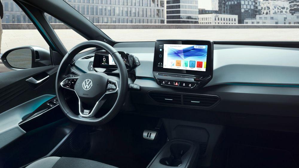 VW ID.3 er første bil ut med det som etter hvert skal bli det nye operativsystemet som skal drive konsernets kommende biler.