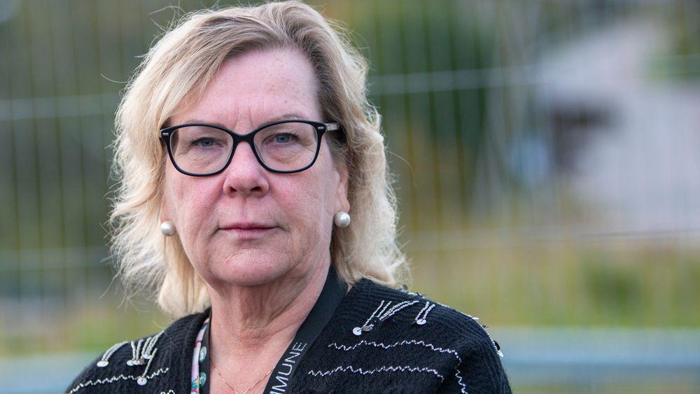 Nittedal-ordfører Hilde Thorkildsen fotografert i forbindelse et jordras i kommunen i fjor.