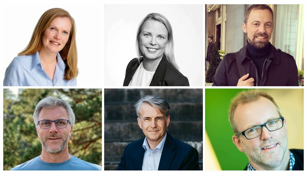 Her er Oljedirektoratets nye direktører (fra øverst til høyre): Kristin Reitan Husebø, May Karin Mannes, Torgeir Stordal, Kalmar Ildstad, Erik Garshol og Ola Anders Skauby.