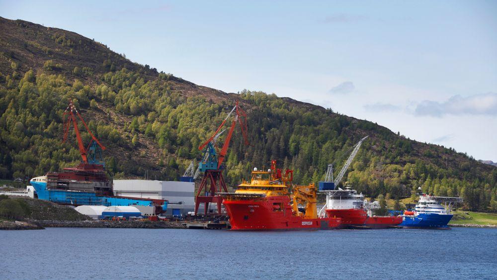 Kleven Verft i Ulsteinvik på Sunnmøre kan snart være konkurs.