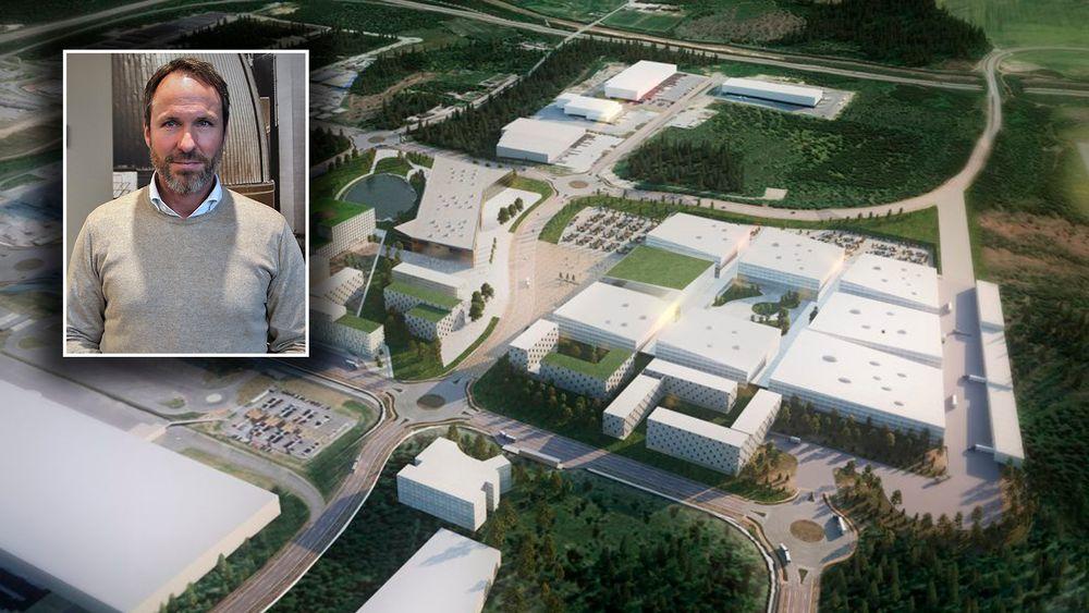 Thor E. Thoeneie har store planer for Oslo Airport City ved Gardermoen. Flyplassbyen vil legge beslag på et område tilsvarende cirka 150 fotballbaner.