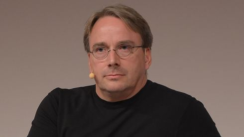 Linus Torvalds intervjues under LinuxCon Europe 2014 i Düsseldorf