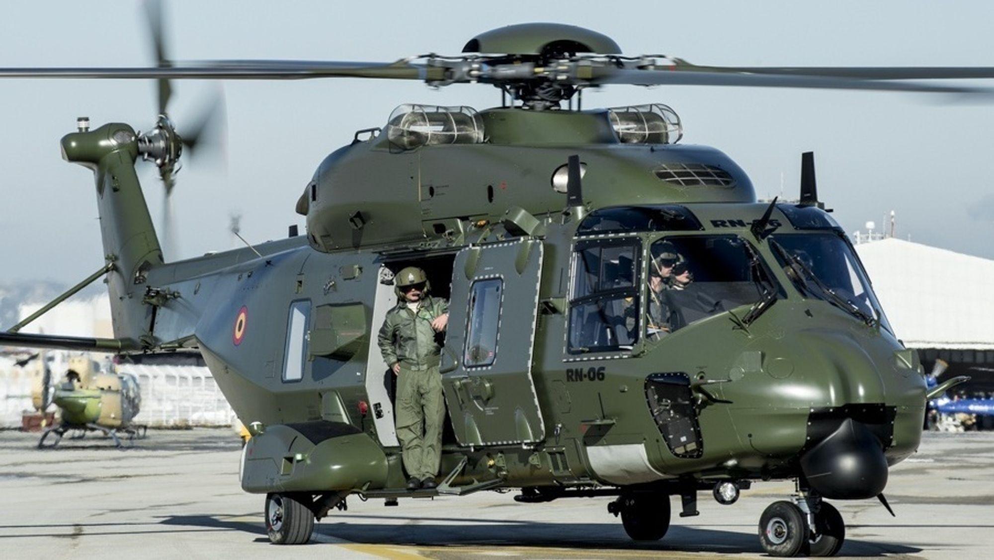 Dette bildet er fra da det fjerde og siste belgiske NH90 TTH ble mottatt i 2014. Nå kan det gå mot utfasing av dette og tre andre transporthelikoptre.