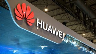 Huawei-logo på Mobile World Congress i Barcelona 2015