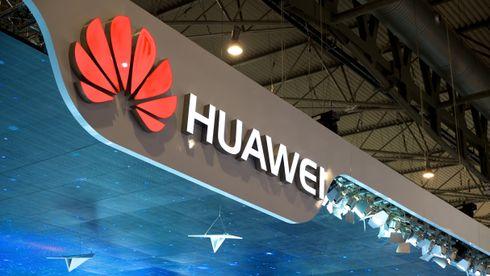 Huawei-logo på Mobile World Congress i Barcelona 2015