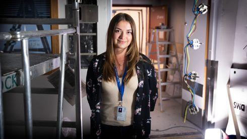 Nataliya Ostrovskaya er prosjektleder fra Afry for bygging av nytt CT-rom på OUS.