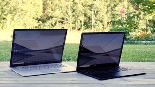 Vi har testet både 15- og 13,5-tommeren (til høyre) av Microsoft Surface Laptop 3.