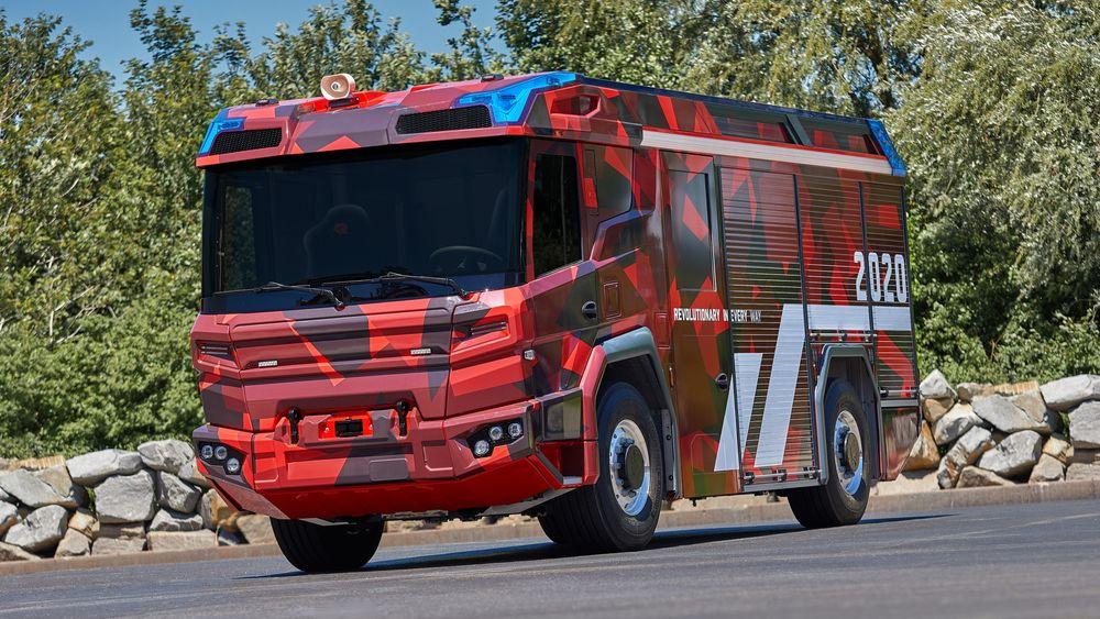 Volvo Penta utvikler en elektrisk drivlinje for Rosenbauer brannbil. Nå går prosjektet fra konsept til å starte testing i virkeligheten.